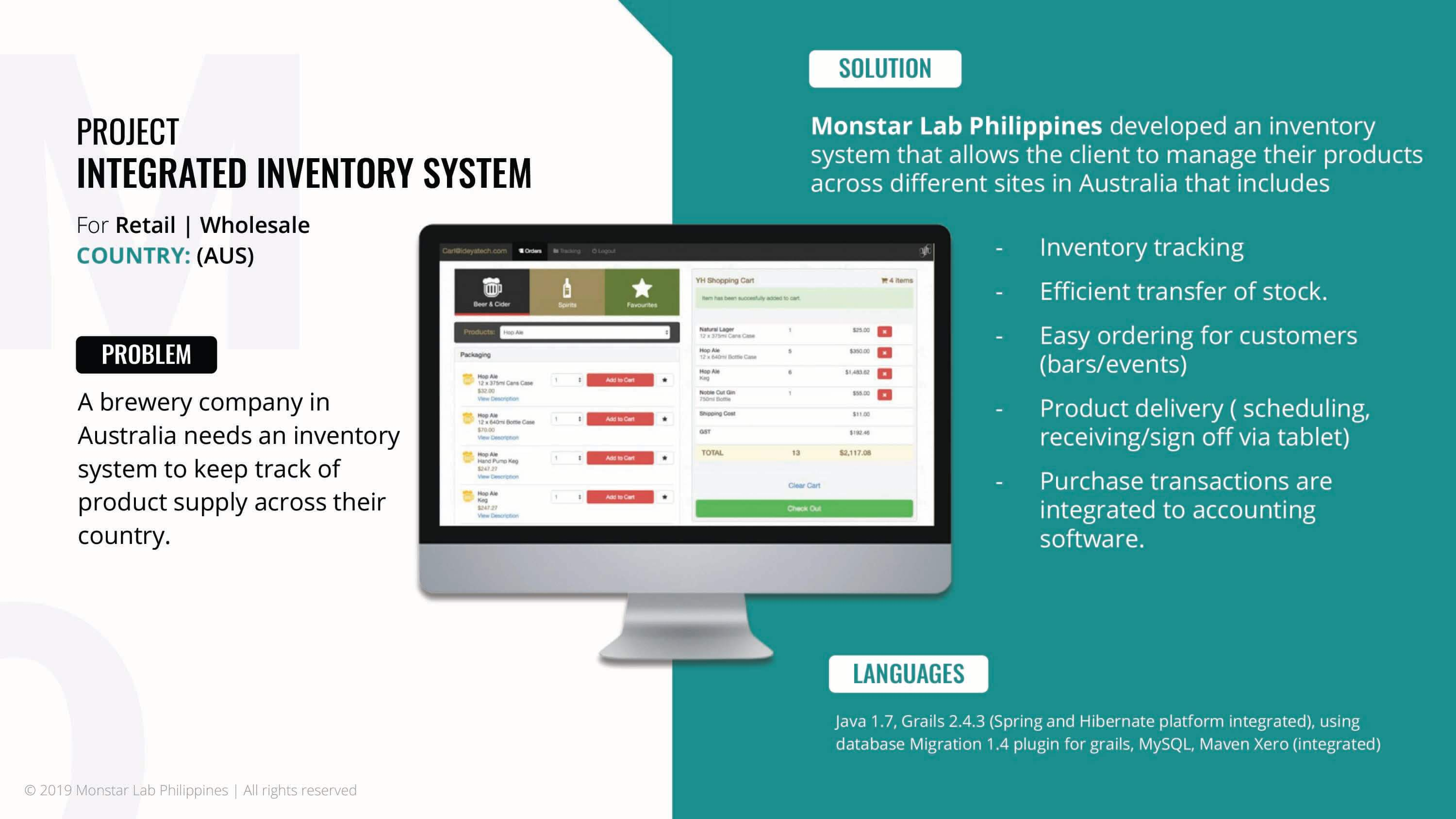 Web application development, Monstar Lab PH integrated inventory system case study problem