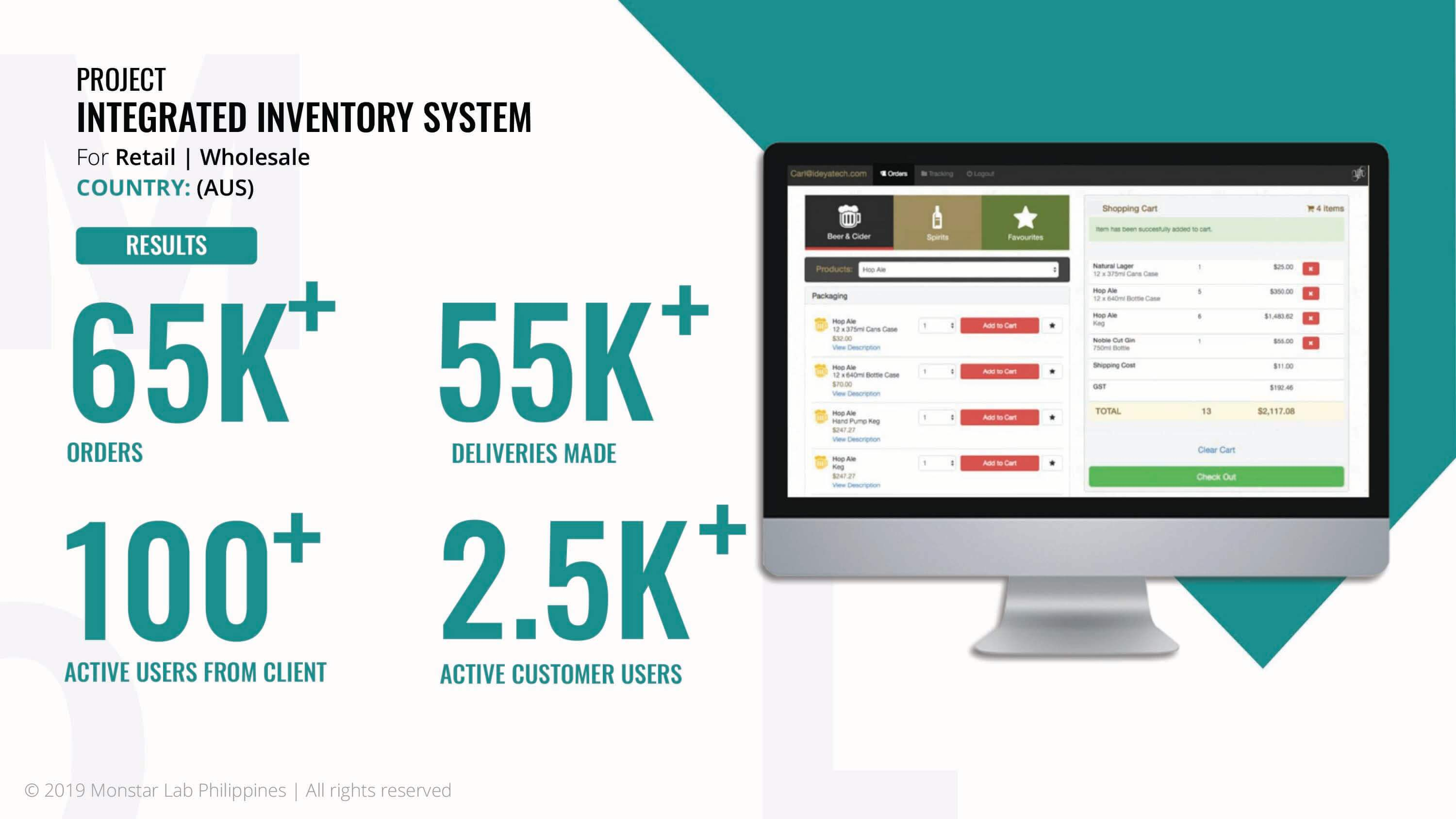 Web application development, Monstar Lab PH integrated inventory system case study results